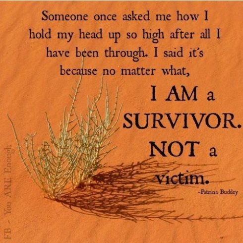 no to being a victim
