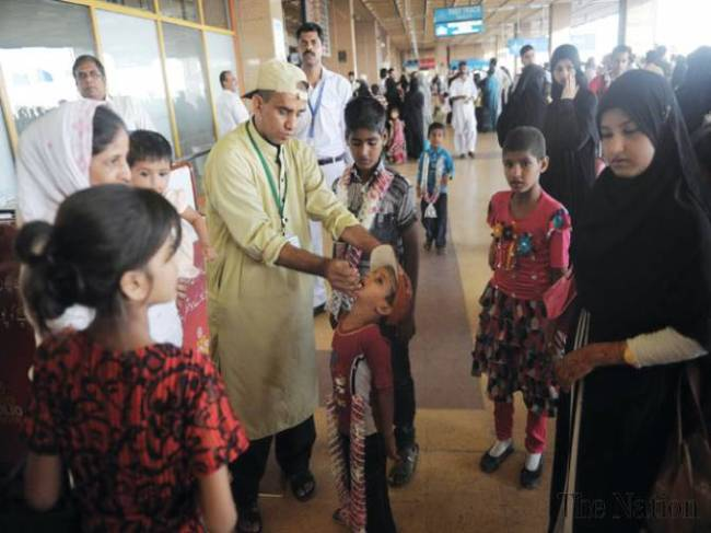 Polio Vaccination at Airports