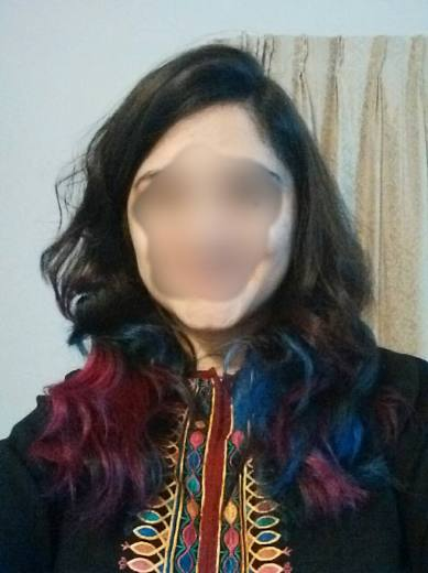 I dyed my hair blue, pink, purple and green